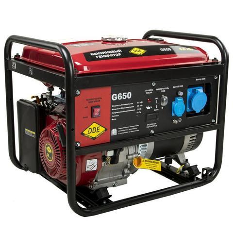 Генератор бензиновый DDE G650 (1ф 6,0/6,5 кВт бак 25 л 81 кг дв-ль 14 л.с.)