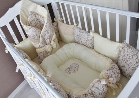 Комплект в кроватку Арабика в круглую/овальную кроватки