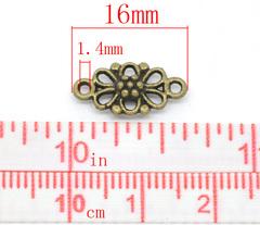 Коннектор (1-1) 16х8 мм (цвет - античная бронза)