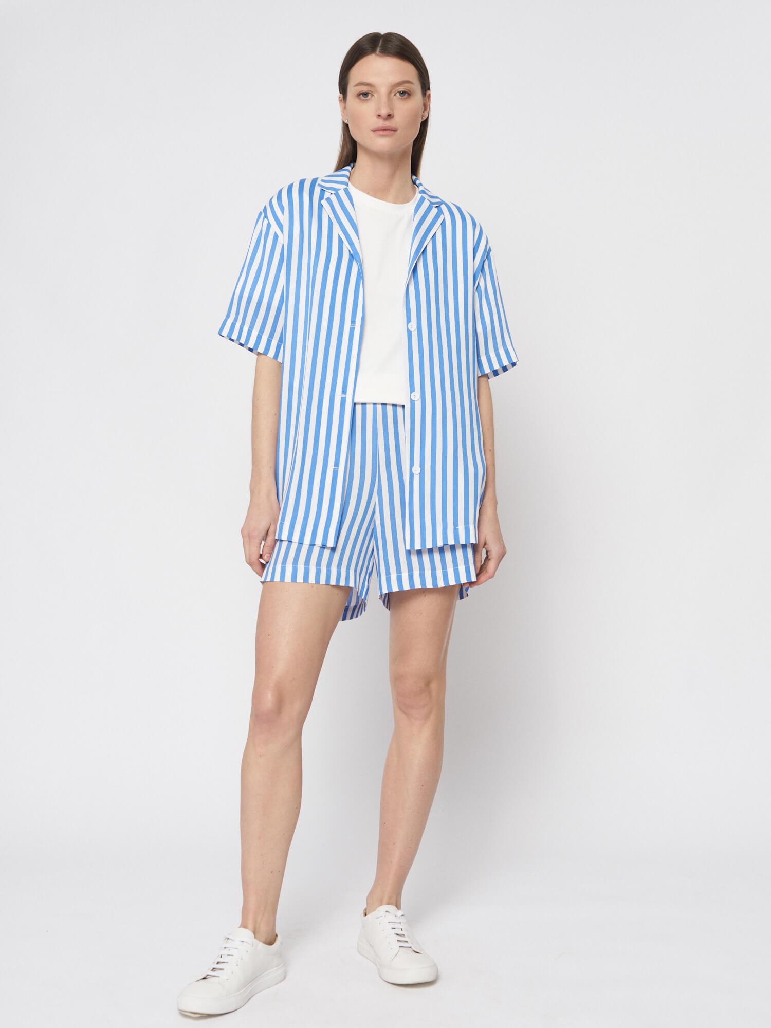 Мини–шорты в полоску Lexi в пижамном стиле