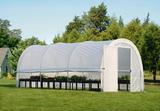 Теплица-в-Коробке 3x6x2,4м, круглая крыша, светорассеивающий тент, ShelterLogic