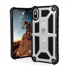 Чехол UAG Monarch Platinum для iPhone X платиновый