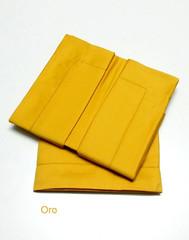 Простыня на резинке 180x200 Сaleffi Raso Tinta Unito с бордюром сатин золотая
