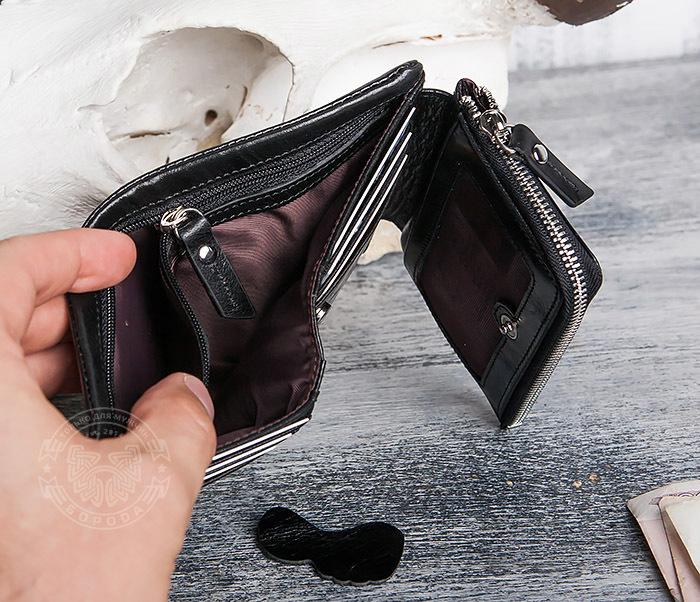 WL280-1 Вместительный мужской кошелек с монетницей фото 09