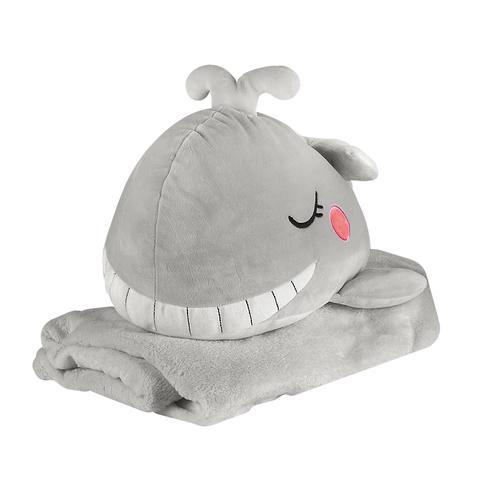 Игрушка Whale Grey с пледом
