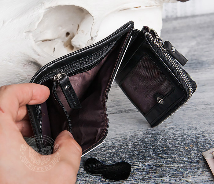 WL280-1 Вместительный мужской кошелек с монетницей фото 10