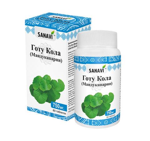 Готу Кола, 60 таблеток, SANAVI (Индия)