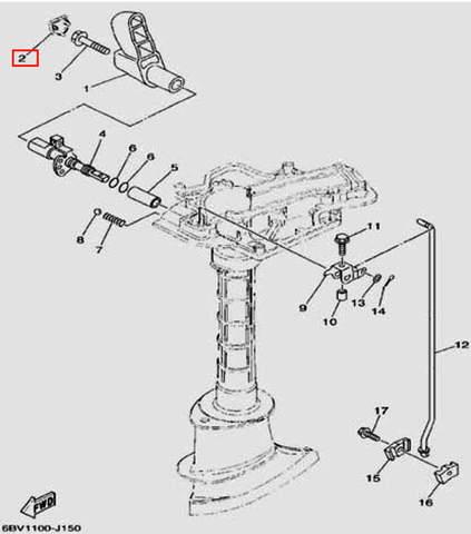 Заглушка ручки пп для лодочного мотора F5 Sea-PRO(15-2)