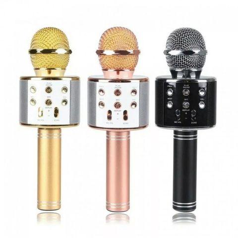 Караоке беспроводной Bluetooth микрофон WS-858 с динамиком и USB