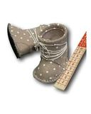 Сапожки из фетра со шнуровкой - Демонстрационный образец. Одежда для кукол, пупсов и мягких игрушек.