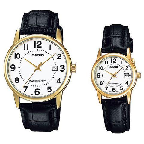 Купить Парные часы Casio Standard: MTP-V002GL-7BUDF и LTP-V002GL-7BUDF по доступной цене