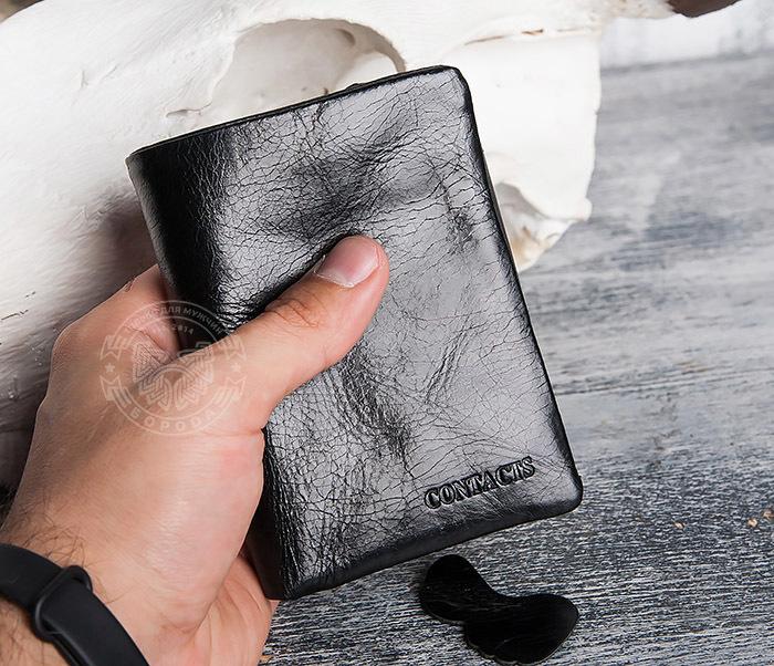 WL280-1 Вместительный мужской кошелек с монетницей фото 13