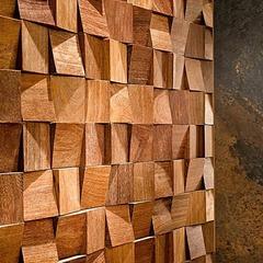 Декоративная  деревянная панель HarleyWood PIXEL цветная волна