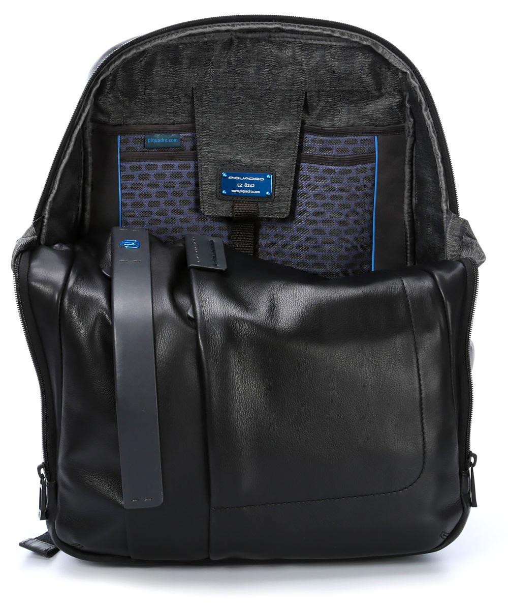 Рюкзак Piquadro Pulse, цвет черный,  33х42х19 см (CA3349P15/N)