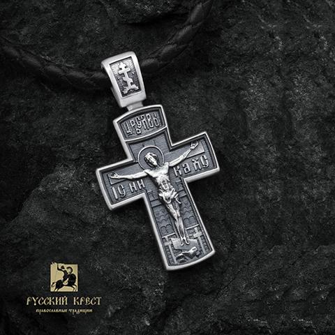 Купить серебряный крестик Распятие. Ангел хранитель. Северный