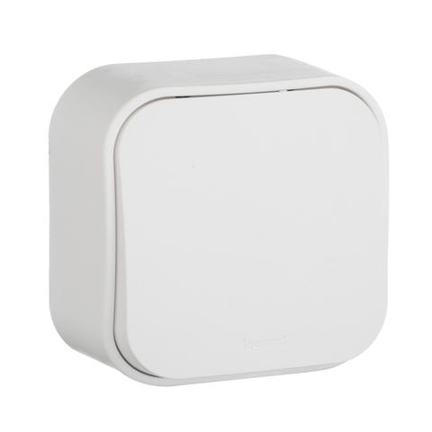 Выключатель одноклавишный - 10 AX - 250 В~. Цвет Белый. Legrand Quteo (Легранд Кутео). 782200