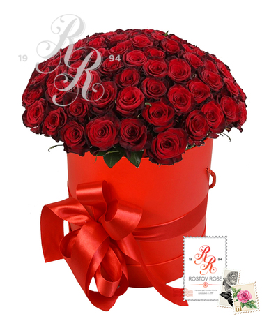 25 Красных роз в коробке