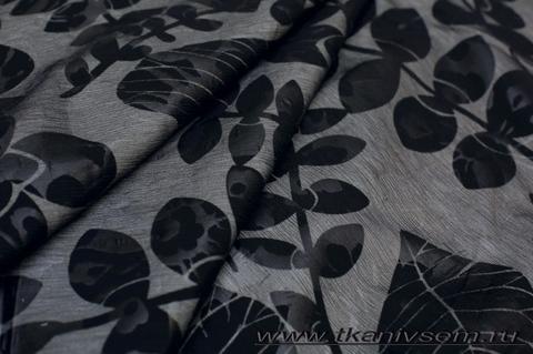 Плащевая принт на шелковой подкладке 07-34-06019