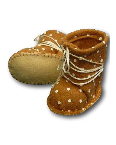 Сапожки из фетра со шнуровкой - Горчичный. Одежда для кукол, пупсов и мягких игрушек.