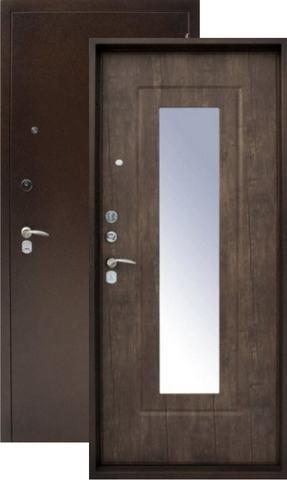 Дверь входная Форт Форт Б-8, 2 замка, 1,8 мм  металл, (медь антик+венге)
