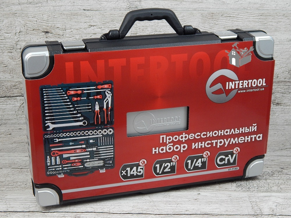 Набор инструментов Intertool ET-7145 (145 предметов)
