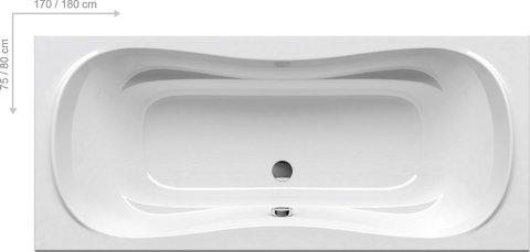 Акриловая ванна Ravak MAGNOLIA 180 x75 белая