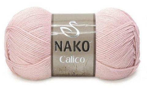 Пряжа Nako Calico светлая пудра 11925