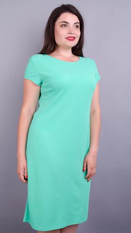 Арина лето креп. Нежное платье больших размеров. Мята.