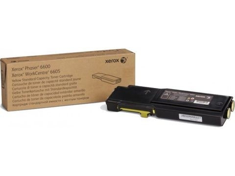 Тонер-картридж желтый Xerox Phaser 6600 / WC6605 (106R02251). Ресурс 2000 страниц