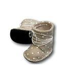 Сапожки из фетра со шнуровкой - Серый. Одежда для кукол, пупсов и мягких игрушек.
