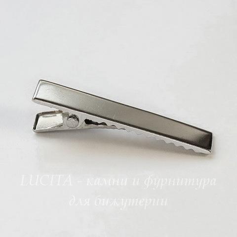 Основа для заколки 35х7 мм (цвет - платина)