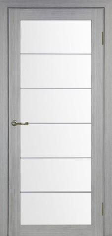 > Экошпон Optima Porte Турин 501АСС молдинг SC, стекло матовое, цвет дуб серый, остекленная