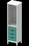 Шкаф лабораторный ШКа-1 АйЛаб Organizer (вариант 8)