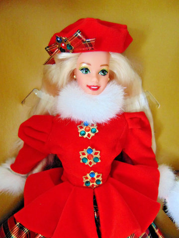 JEWEL PRINCESS BARBIE DOLL 1996. LIMITED EDITION - THE WINTER PRINCESS COLLECTION