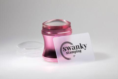 Штамп Swanky Stamping, розовый, силиконовый 4 см