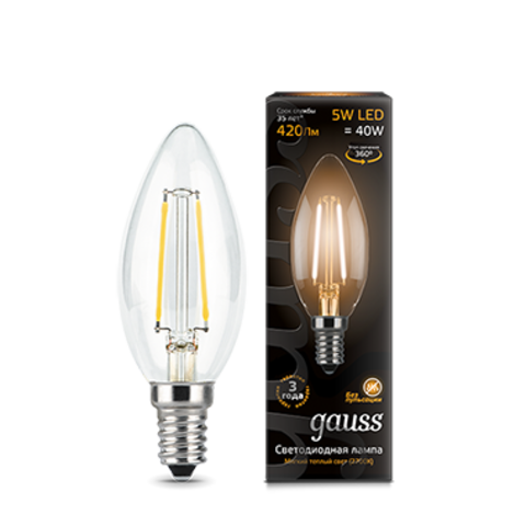 Лампа Gauss LED Filament Candle