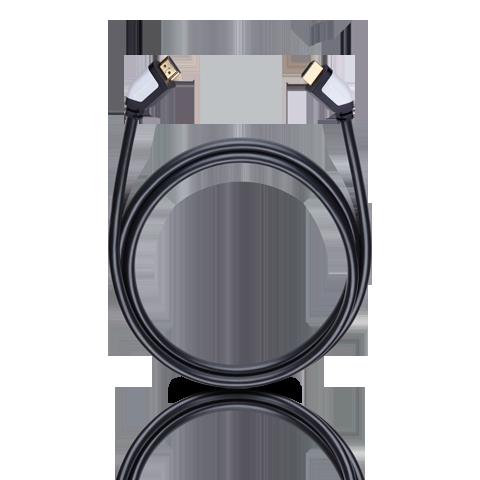 Oehlbach Shape Magic-HS HDMI, black 2.2m, HDMI кабель (#42462)