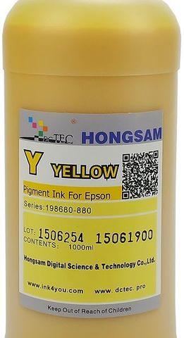 Чернила пигментные DCTec 7880P/1000 -  UltraChrome Epson 7880/9880 yellow (желтый) 1л. Серия 198680-880