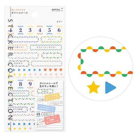 Стикеры для планировщиков Midori Sticker Collection - Taitolu-kala-gara