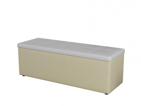Пуф Orma Soft 2 двухместный Экокожа: Кремовый с белым