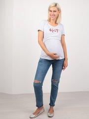 Евромама. Футболка для беременных и кормящих Чили, меланж серый