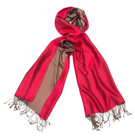Плед-шарф 50х180 AM Paris Paraty красный-коричневый