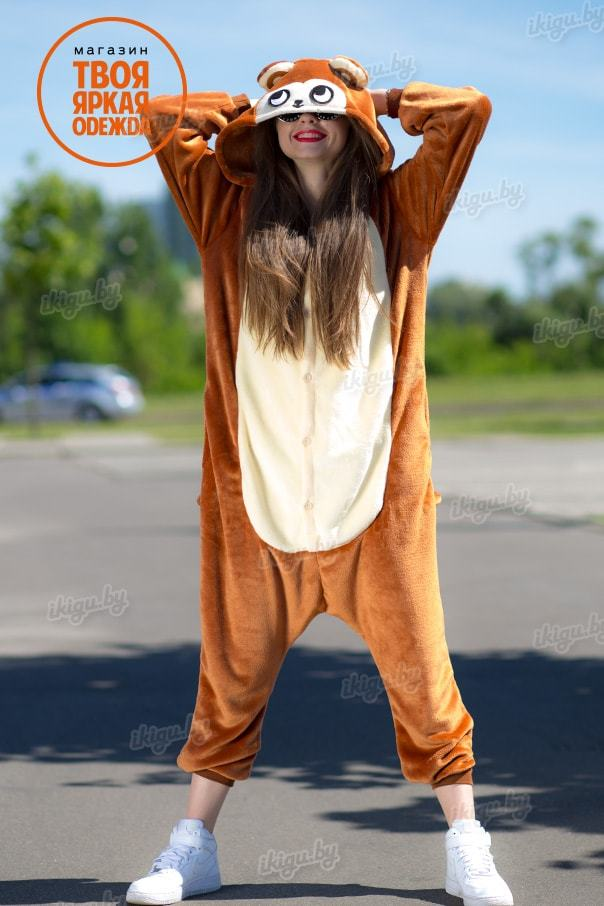Пижамы кигуруми Обезьяна коричневая manky-min.jpg