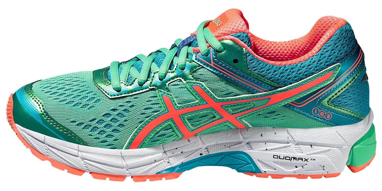 Женские кроссовки для бега Asics GT-1000 4 (T5A7N 8706) салатовые фото слева