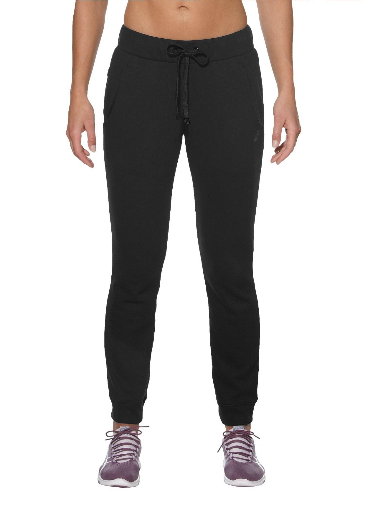 Женские тренировочные штаны Asics Knit Pant (130517 0904) черные фото