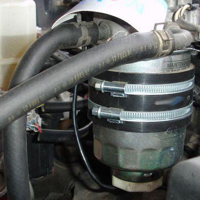 Установка бондажного подогревателя топливного фильтра фото-1