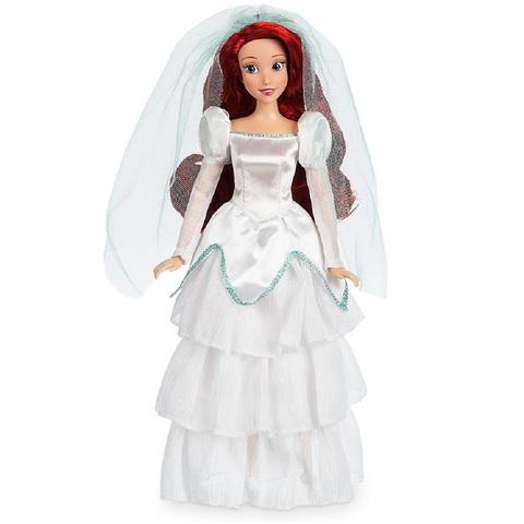 Дисней Русалочка Ариэль в свадебном платье 30 см
