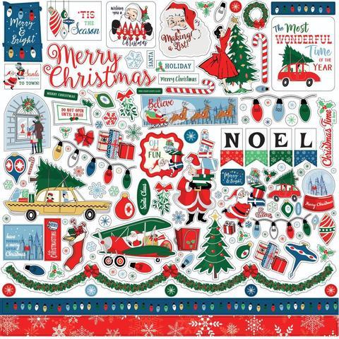 Стикеры  Merry Christmas Cardstock Stickers -Elements 30х30 см