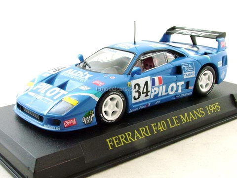 Ferrari F40 Le Mans 1995 blue 1:43 Eaglemoss Ferrari Collection #62