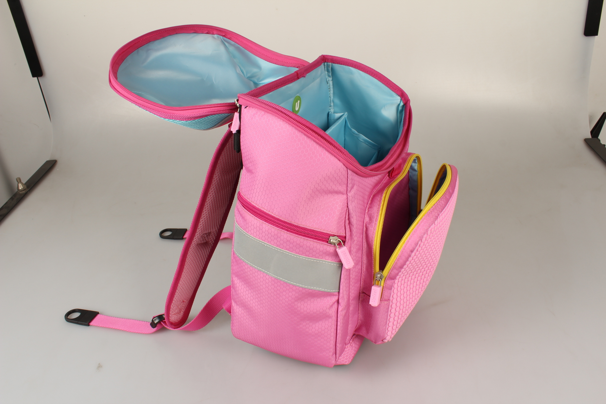 Школьный пиксельный рюкзак Super Class розовый